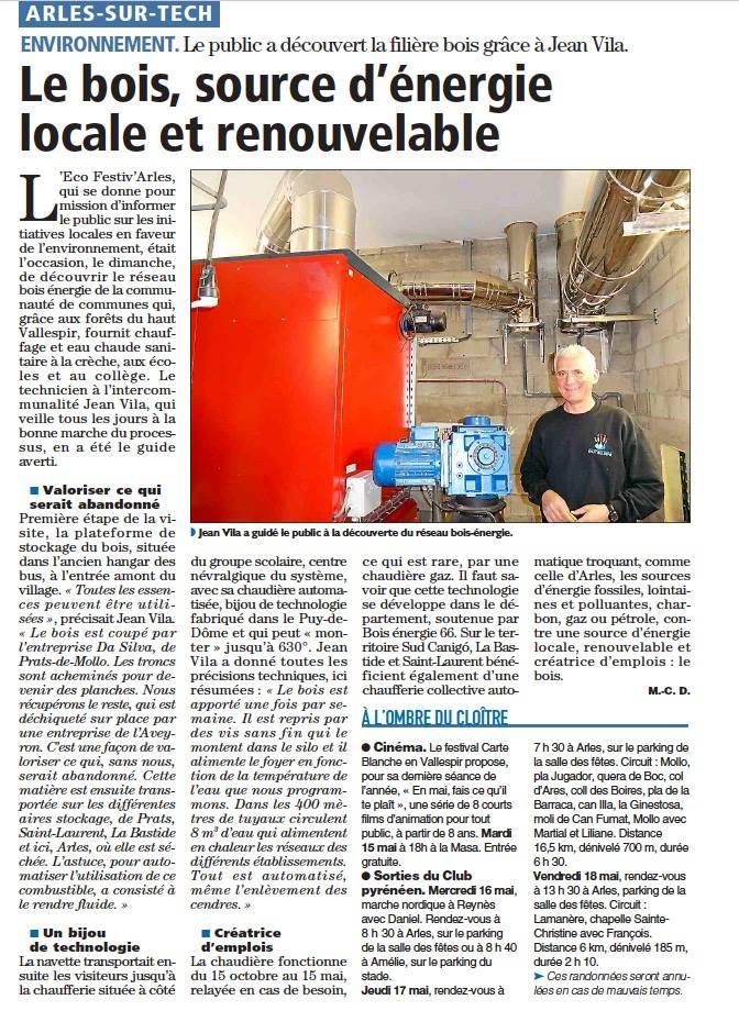 Article L'Indépendant (15/05/2018)